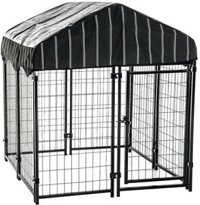 Pet Resort Kennel Waterproof Cover Heavy Duty 52 in. H x 4 ft. W x 4 ft. L