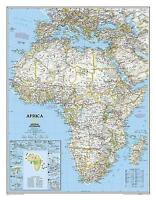 Africa Classic, Enlarged &, Tubed. Wall Maps Continents by National Geographic M