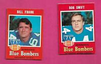 1971 OPC CFL WINNIPEG BLUE BOMBERS  NRMT  CARD LOT  (INV# C6287)