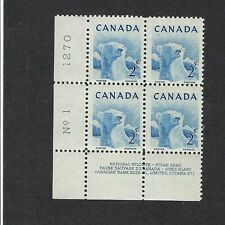 STAMPS - CANADA - SC# 322, 323, & 361 WILDLIFE  ISSUE -  PLATE #1 BLOCKS -MNH