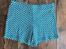 NWT Gymboree Girls Mix N Match Knit Turquoise Chevron Shorts Size 10