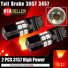 2 X 3157/3156 Red 7W High Power Projector LED Brake Tail Stop Lights Bulbs