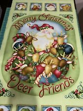 """Jimgle All The Way By Nancy Halvorsen Quilting Panel 22""""x40"""" Christmas"""