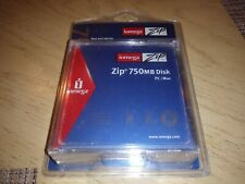 New Iomega Zip 750MB Disks 3-pack For PC or MAC Data Storage Disc FreeShipping