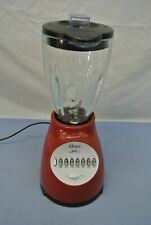 RED OSTER 14 SPEED ALL METAL DRIVE BLENDER GLASS PITCHER  6 cups