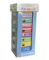 Early Learning My First Look At Animals 10 Chunky Books Tower - GIFT - NEW