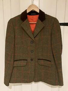 Le Beau Cheval Wool Show Tweed Jacket Size 32