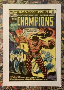 THE CHAMPIONS #1 - OCT 1975 - 1st CHAMPIONS APPEARANCE - FN (6.0) PENCE COPY!