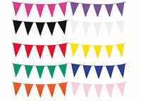 10m BUNTING - Solid Assorted Colours (Pennant/Banner/Party/Wedding/Decoration) B