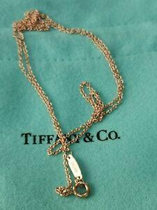 "Genuine TIFFANY & Co  18 carat Rose gold chain 18 """