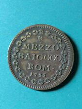 Vatican - Papal States 1755 1/2 Baiocco Benedict XIV Coin