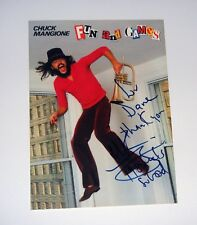 Chuck Mangione Signed 1980 Feels So Good Promo Postcard 5x7 COA Free Shipping