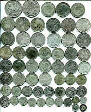 More details for £5 pre 1947 crowns to threepences, all different, 8.97 tr oz silver mixed grades