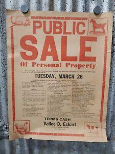Old Vallee Eckart Auction Sale Bill Bob McFarland Farm Elizabeth Indiana Corydon