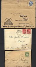 Denmark 1900-80s Collection Of 10 Commercial Covers 7 Fdcs & 1 Mint Air Letter