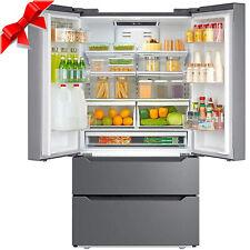 Counter 22.5 Cu Ft Depth Fridge French Door Refrigerator Freezer Stainless Steel