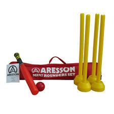 Aresson Mini Rounders Set, Bat, Balls, Stumps,Bases, Rules, SR920