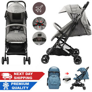 Compact Lightweight  Stroller Pushchair Foldable Travel Buggy Pram with Harness