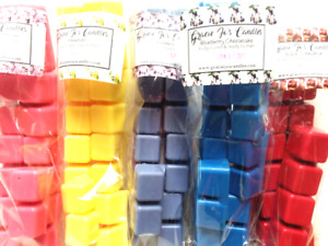Wax Melts Scented Wickless Candles Cubes Tarts Home STRONG Fragrances Scents