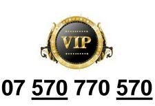 GOLD Easy Memorable UK Business Mobile Phone Number PLATINUM Sim 570 770 570