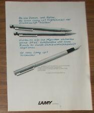 Seltene Werbung LAMY CP1 Füllhalter Druckbleistift Kugelschreiber #1 1978