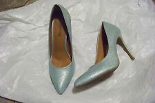 womens cosmopolitan sparkle mint pointed toe heels shoes size 9