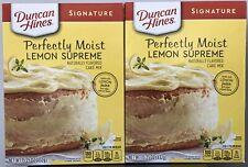2 Duncan Hines Signature Lemon Supreme Cake Mix 15.25 oz  PRIORITY SHIP!!