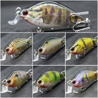 wLure 2 1/2 inch Crankbait Fishing Lures Tight Wobble Slow Float Lifelike HC503