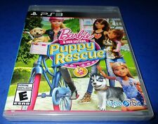 Barbie & Her Sisters Puppy Rescue Sony PlayStation 3 *New-Sealed-Free Ship!