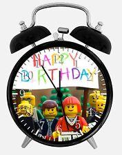 "Lego Movie Birthday Alarm Desk Clock 3.75"" Home or Office Decor E241 Nice Gift"