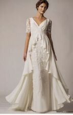 Alice By Temperley Cream Silk Boho Beach Wedding Maxi Dress UK8