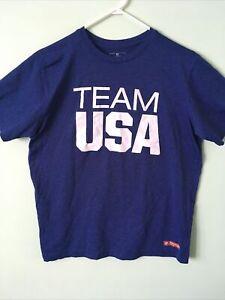TEAM USA 2016 Olympics Performance T-Shirt - Men's Medium - Team Apparel - Blue