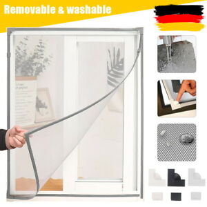Fliegengitter Magnetrahmen Insektenschutz Fenster Magnet Befestigung ohne Bohren