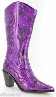 New Helens Heart Purple Sequin Western Boots Size 5, 6, 7, 8, 9, 10, 11