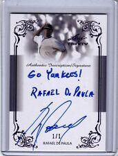 2013 Leaf Trinity Draft Rafael De Paula Inscription Purple Auto 1/1 RC Yankees