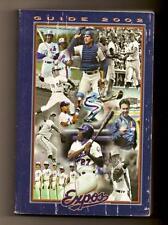 2002 Montreal Expos Media guide MLB Baseball