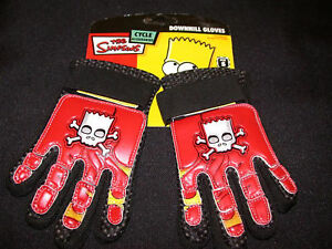 CHILDRENS BIKE GLOVE SIMPSONS DOWNHILL CYCLING,SKATING,SCOOTER IDEAL PRESENT