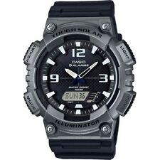 Casio Solar Analog/Digital Watch, Black Resin, 100 Meter, 5 Alarms, AQS810W-1A4V
