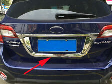 Rear Number Plate Frame Molding Cover Trim for 2015 2016 Subaru Outback Chrome