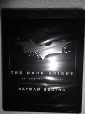 DARK KNIGHT & BATMAN BEGINS STEELBOOK LIMITED - OOP BRAND NEW FACTORY SEALED