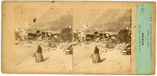 Stereo Suisse, Schweiz, Brienz, Vue prise des bords du lac, canton de Berne, cir