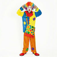 Adult Mens Funny Mens the Clown Cosplay Halloween Costume Outfit Fancy Dress