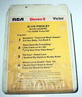 Vintage 8 Track Cassette Cartridge Untested Elvis Presley I'm 10,000 Years Old