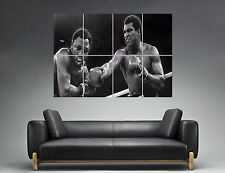 Mohamed Ali Punching Wall Art Poster Grand format A0 Large Print