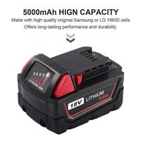 Replace For Milwaukee RedLithium M18 XC 5.0Ah 48-11-1850 Battery 2767-20 2767-22
