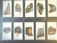 1931  MILITARY HEAD-DRESS hat armor helmet set 50 cards Tobacco Cigarette