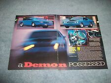 """1972 Dodge Demon Vintage Drag Car Article """"A Demon Possessed"""""""