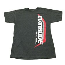 NEW BRP Evinrude E-Tec Shirt Outboard Boat Motor Tee Size Medium Gray Relaxed