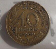 10 centimes marianne 1962 : TB : pièce de monnaie française