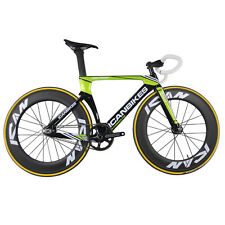 Carbon Fiber Complete Bike Fixed Gear Aero Track Bike 56 cm Sram Groupset